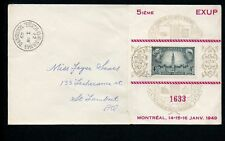 LOT 66241 CANADA 277 COVER STAMP EVENTS PHILATELIC EXHIBITION 5TH EXUP 1949