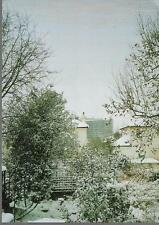London - Royal Free Hospital, Hampstead in snow - postcard c.1980s