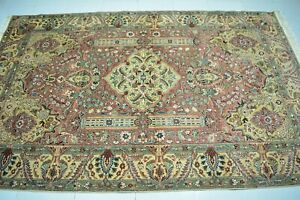 Pink Vintage Rug 5x8,Hand Knotted Turkish Oushak,Antique Anatolian Rug,Carpet