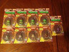 Lot Of 9 Kidrobot TMNT Keychains Rocksteady Bebop Leo Raphael Shredder Splinter