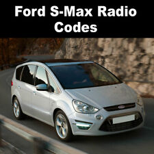 Ford S-Max Radio Code Stereo Codes Pin Car Unlock Fast Service 6000cd