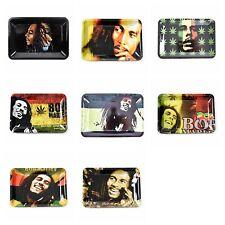 2 PCS Metal Cigarette Rolling Tray Bob Marley 18cm×12.5cm Smoking Holder Trays