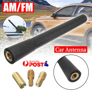 "4"" 10cm Car Antenna Mast Aerial Vehicle Roof A/FM Radio Signal Booster Universal"