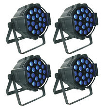 4/Lot Zoom Par Can 18 x 15W RGBWA UV 6in1 LEDs 10° - 60° Beam par stage light