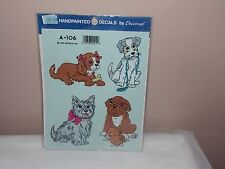 Vgt 1992 Decoral Handpainted Waterslide Decal Puppie Dogs A-106 New Old Stock