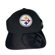 Steelers Pittsburgh NFL New Era Black Hat Cap One-Size Youth Kids Child Mesh