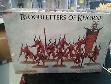 WARHAMMER 40K Chaos Demoni Bloodletters Di Khorne 28 mm MINIATURES NUOVO e SIGILLATO