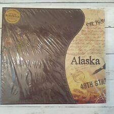 "NEW ALASKA Leatherbound 12""x12"" Scrapbook Photo Album Arctic Circle Enterprises"
