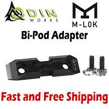 Odin Works Ml-Pod Low-Profile M-Lok Mlok System Adapter Mount for Harris BiPod