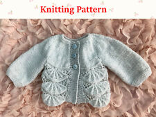 Knitting pattern Jacket for baby 0 to 3 months old
