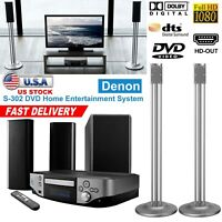 Denon S-302 DVD Home Entertainment System 3 Speaker Theater System WiFi 1080P