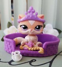 Littlest Pet Shop Exclusive Creamy Pale Orange Persian Cat #1657 Bed Accessories