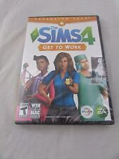 The Sims 4: Get to Work Expansion Pack for PC (Windows or MAC) NEW & SEALED!