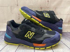 New Balance 992 Black Purple Green Shoes M992LT Men's Size 13 NEW