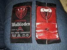 "Vtg Designer Clothing Labels 2 NOS Tags ""ORIGINAL Walkloden Made in Austria""Wool"