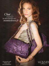 Publicité Advertising 2011  MONNIER Frères sac à main collection mode