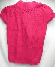 GYMBOREE Girls Pink Short Sleeved Collar/Knitted Sweater w/Buttons size S  70530