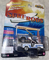 Johnny Lightning Surf Rods Blue & White 1966 Ford Bronco Die-Cast Car