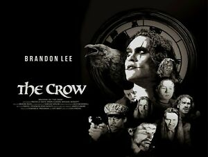 "THE CROW custom Quad poster 30x40"" FREE P&P Brandon Lee"