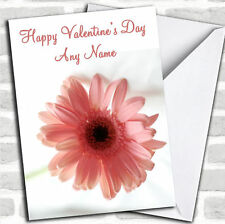Stunning Pink Flower Romantic Valentine's Customised Card