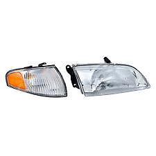 2000 2001 2002 MAZDA 626 HEADLIGHT & CORNER LAMP LIGHT RIGHT SIDE ONLY