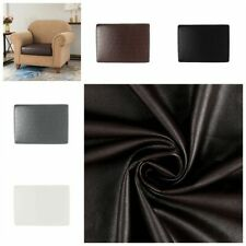 Faux Leather Waterproof Sofa Seat Cushion Cover Stretch Chair Couch Slipcovers