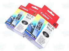 2PK Genuine Canon BCI-21 Black 0954A003 BJC-2000 B740 BJC-4000 S100 C2500 Series