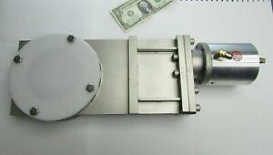 New 100MM High Vacuum Stainless Knife Gate Valve Pneumatic Actuator UV132 V89214