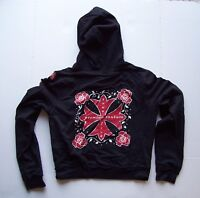 Bisou Bisou Michele Bohbot Womens Hoodie Jacket Embellished Cross Design Size L