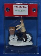 Holiday Time~Christmas Village~Bicycle Delivery~Man & Bike~NEW!