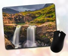 Nature ~ Waterfall, Forest, Rocks, Lush, Scenic, Gift, Decor ~ Vivid Mouse Pad