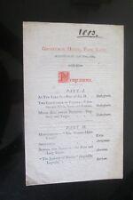 1883 GROSVENOR HOUSE PARK LANE PROGRAMME BENEFIT REDUCED CIRCUMSTANCES GENTRY