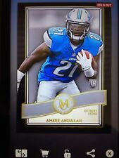 (DIGITAL) Topps Huddle Card Trader Ameer Abdullah Museum Collection Gold (871cc)