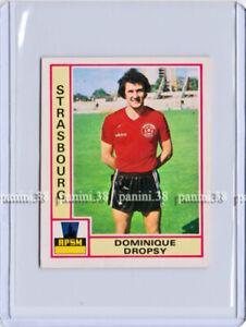 """RARE !! DOMINIQUE DROPSY Sticker """"FOOTBALL 1980 FRANCE"""" Panini"""