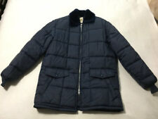 The Northwest Vtg Size 2 L XL Navy Blue Puffer Jacket Faux Fur Collar READ