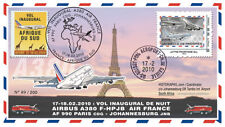 "A380-96 FFC ""Airbus A380 Air France - 1st Flight AF990 Paris-Johannesburg"" 2010"
