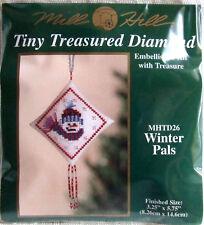 Mill Hill Cross Stitch Bead Kit Christmas Snowman Diamond 'Winter Pals' TD26