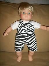 Bitty Baby Twin Zebra Safari boy shortall set clothes
