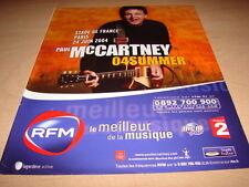PAUL MC CARTNEY - 04SUMMER!!!!!!!!!!FRENCH PRESS ADVERT