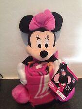 Arizona Cardinals Minnie Mouse Throw & Pillow Set- New