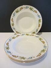 "Vintage Ridgway Pottery ""Sherwood"" ""White Mist"" 4 x Soup Plates"