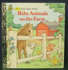 """First Little Golden Book  """"BABY ANIMALS ON THE FARM""""- shooter & dolce"""