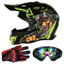 Hot Protector Motocross Casques + Lunettes + Gants DOT Moto Racing Dirt Bike SH