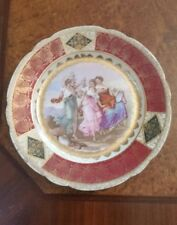 Signed A Kauffman ~Royal Vienna Hand Painted Porcelain Figural Plate c 1800's