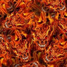 1m De Flaming Skulls 2 Película (fs02) 50cm hidrográficos de transferencia de agua de película