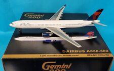 Gemini200 Airbus A330-300 Delta Air Lignes N801NW (avec Socle ) Ref: G2DAL305