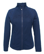 NEW Tangerine Women's Pattern Perforated Mesh Laser Cut Full Zip Jacket Small