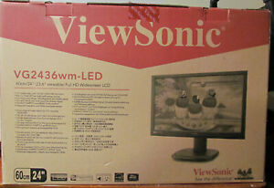 NEW ViewSonic VG2436WM LED Monitor 1080P  VGA cable and power cable included