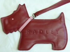 RADLEY RED LEATHER HERITAGE DOG WRISTLET PURSE WITH DUST BAG RRP £75 BRAND NEW