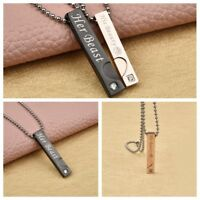 Charm Couple Pendant Necklace Fashion Stainless Steel Chain Jewelry For Lover